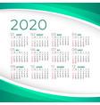 elegant 2020 calendar template design