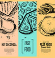 fast food cafe menu corporate identity set vector image vector image