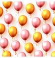 festive color balloon party background vector image vector image