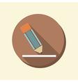 flat circle web icon writing pencil vector image