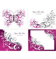 Floral Graphics Design Elements vector image vector image