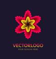 flower logo symbol vector image vector image