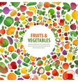 fruits vegetables logo design template vector image vector image