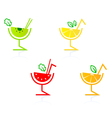 fruity drinks vector image vector image
