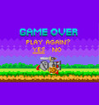 game over pixel-game background with perished vector image vector image
