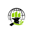 global eco building solution vector image