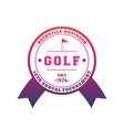 golf tournament emblem badge vector image vector image