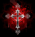 gothic silver cross vector image vector image