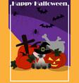 halloween elements background vector image vector image