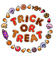 halloween gingerbread cookiescolorful letters vector image vector image