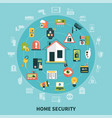 home security round composition vector image vector image