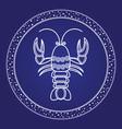 horoscope astrology zodiac card cancer vector image vector image