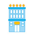 hotel building with five stars vector image vector image