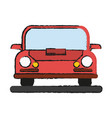 isolated red car design vector image vector image