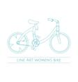 Line Art Womens Bike One vector image vector image
