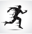 low poly running man isolated on white vector image vector image