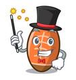 magician rugby ball mascot cartoon vector image