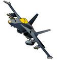 modern fighter jet vector image vector image