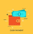 modern flat design concept for e-payment vector image vector image