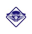 Motorbike Handlebar Headlamp Wings Diamond Retro vector image
