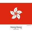 National flag of Hong Kong with correct vector image