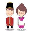 north maluku province wedding couple cute vector image vector image