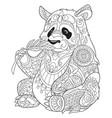panda coloring page vector image vector image