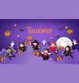 paper art happy halloween vector image vector image