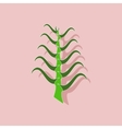 paper sticker on stylish background plant Aloe vector image