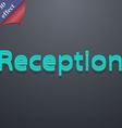 Reception icon symbol 3D style Trendy modern vector image vector image