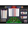 scoreboard soccer vector image vector image