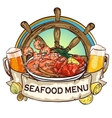 Seafood Grill label design vector image vector image