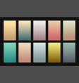 set gradient backgrounds vintage color vector image