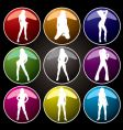 sexy buttons coloured vector image vector image