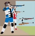 shooting athletic sport cartoon set vector image vector image