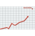 Success in business vector image