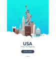 usa time to travel set of travel posters vector image vector image