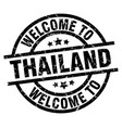 welcome to thailand black stamp vector image vector image
