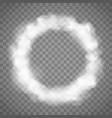 white abstract smoke texture circle frame template vector image vector image