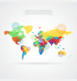 World map with elements infographics