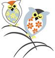 Owl design tree eye vector image