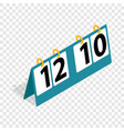 tennis score board isometric icon vector image