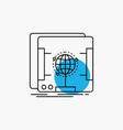 3d dimensional holographic scan scanner line icon vector image vector image