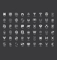 abstract logos collection with letters vector image vector image