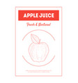 apple juice banner template fresh natural vector image vector image