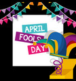 april fools day card vector image vector image