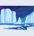 arctic ice landscape vector image