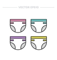 Baby diaper icon vector image