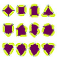 badge color set vector image vector image