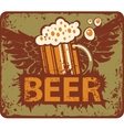beer and wings vector image vector image